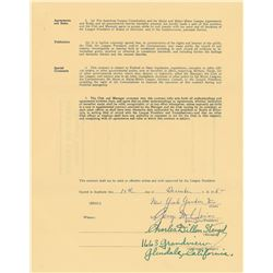 Casey Stengel 1953–54 New York Yankees Signed Manager's Contract
