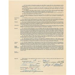 Richie Ashburn 1955 Philadelphia Phillies Signed Player Contract (NL Batting Champion)