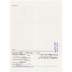 Bob Gibson 1958 and 1975 Cardinals Signed Player Contracts (2x) - First and Last Seasons!