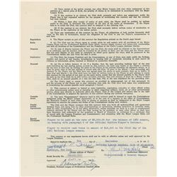 Joe Torre 1960 Milwaukee Braves Signed Player Contract (Rookie Contract)