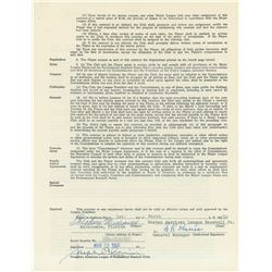 Ted Williams 1960 Boston Red Sox Signed Player Contract (Last Season)