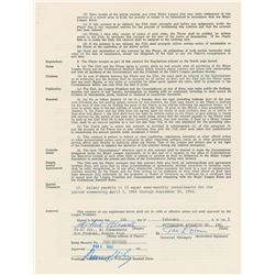 Roberto Clemente 1962 Pittsburgh Pirates Signed Player Contract
