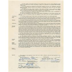 Nellie Fox 1962 Chicago White Sox Signed Player Contract