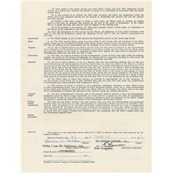 Duke Snider 1962 Los Angeles Dodgers Signed Player Contract