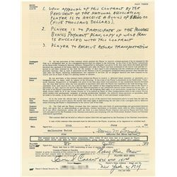 Rod Carew 1964 Melbourne Twins Rookie League Signed Player Contract (Earliest Known)