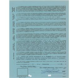 Roberto Clemente 1964 Puerto Rico Winter League Signed Player Contract