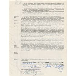 Bob Gibson 1964 St. Louis Cardinals Signed Player Contract