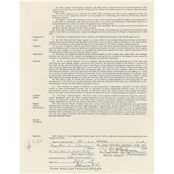 Ken Boyer 1965 St. Louis Cardinals Signed Player Contract