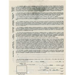 Steve Carlton 1966 Puerto Rico Winter League Signed Player Contract