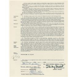 Steve Carlton 1967 St. Louis Cardinals Signed Player Contract