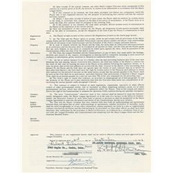 Bob Gibson 1967 St. Louis Cardinals Signed Player Contract (World Series MVP)
