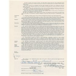 Curt Flood 1967 St. Louis Cardinals Signed Player Contract