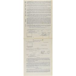 Frank Robinson 1968 Puerto Rico Winter League Signed Player Contract