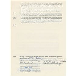 Reggie Jackson 1971 Oakland Athletics Signed Player Contract