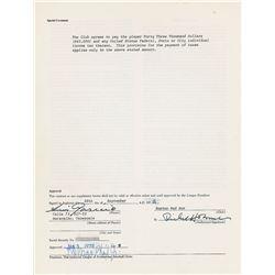 Luis Aparicio 1972 Boston Red Sox Signed Player Contract