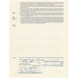 Nolan Ryan 1972 California Angels Signed Player Contract