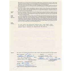 Harmon Killebrew 1973 Minnesota Twins Signed Player Contract