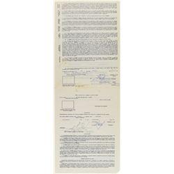 Orlando Cepeda 1974 Puerto Rico Winter League Signed Player Contract