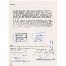 Hank Aaron 1974 Atlanta Braves Signed Player Contract (Breaks Home Run Record)