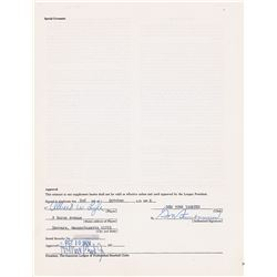 Sparky Lyle 1975 New York Yankees Signed Player Contract