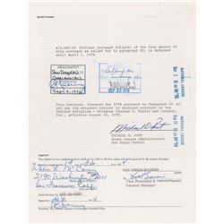 Willie McCovey 1975 San Diego Padres Signed Player Contract