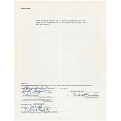 Carl Yastrzemski 1975 Boston Red Sox Signed Player Contract