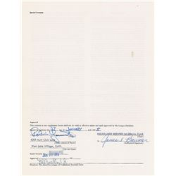 Robin Yount 1975 Milwaukee Brewers Signed Player Contract