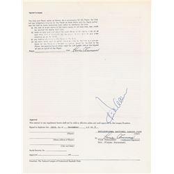 Dick Allen 1976 Philadelphia Phillies Signed Player Contract
