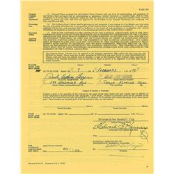 Wade Boggs 1978 Winston-Salem Red Sox Minor League Signed Player Contract (Earliest Known)