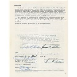 Dennis Eckersley 1980–84 Boston Red Sox Signed Player Contract
