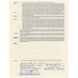 Thurman Munson 1969 New York Yankees Signed Player Contract (Rookie Season)