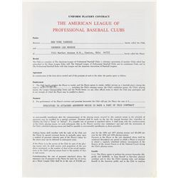 Thurman Munson 1978–81 New York Yankees Signed Player Contract (Last Contract)