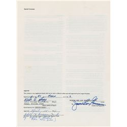 Wade Boggs 1986 Boston Red Sox Signed Player Contract (AL Batting Champion)