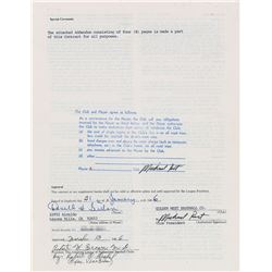 Don Sutton 1986 California Angels Signed Player Contract