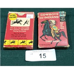TWO 1960 COWBOY'S & INDIANS CARD GAMES