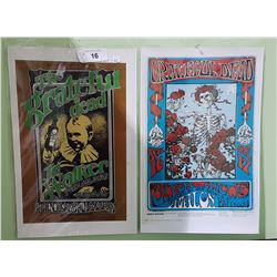 TWO GRATEFUL DEAD ROCK BAND POSTERS