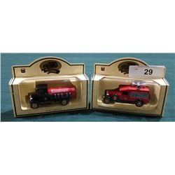TWO STANDARD OIL DIE CAST TRUCKS