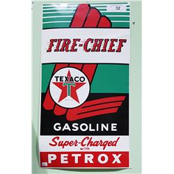 TEXACO FIRE CHIEF GASOLINE DECAL