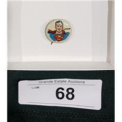 1946/46 KELLOG'S SUPERMAN PEP CEREAL PREMIUM COMIC PIN
