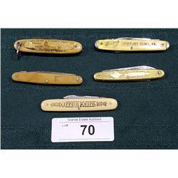 5 VINTAGE POCKET KNIVES