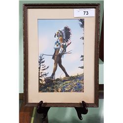 1940'S NATIVE AMERICAN CHIEF FRAMED PRINT