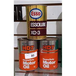 VINTAGE TEXACO & CO-OP OIL QUARTS