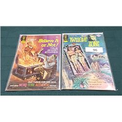 """VINTAGE """"THE TWILIGHT ZONE"""" & """"RIPLEY'S BELIEVE IT OR NOT"""" 15CENT COMICS"""