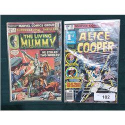 40CENT ALICE COOPER COMIC & 25CENT THE LIVING MUMMY COMIC