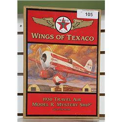 TEXACO 1930 TRAVEL AIR DIE CAST AIRPLANE