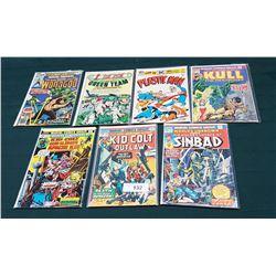 SEVEN VINTAGE 25CENT COMICS