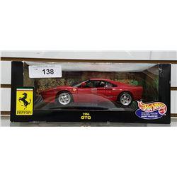 1984 FERRARI GTO DIE CAST CAR BY HOTWHEELS