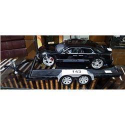 CHRYSLER 300 DIE CAST CAR W/DIE CAST CAR TRAILER