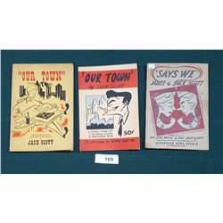 """1942, 1943, & 1946 """"OUR TOWN"""" & """"SAYS WE"""" PAPER BACKS BY JACK SCOTT"""