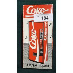 VINTAGE COCA-COLA AM/FM RADIO